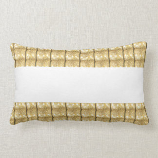 GOLD Strip BLANK Template easy write GREETING TEXT Throw Pillow