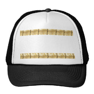 GOLD Strip BLANK Template easy write GREETING TEXT Hat