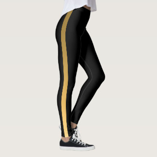 Gold Stripe Leggings