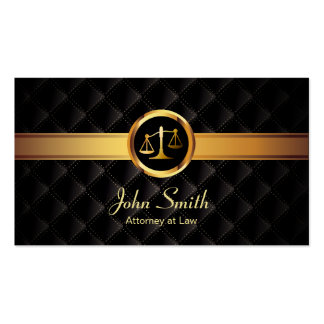 Gold Stripe Luxury Dark Attorney Business Card Standard Business Cards