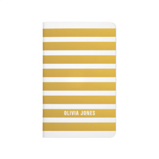 Gold Stripe Pocket Journal