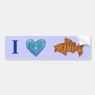 Gold Striped Fish Bumper Sticker