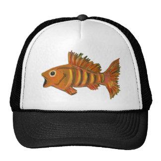 Gold Striped Fish Cap