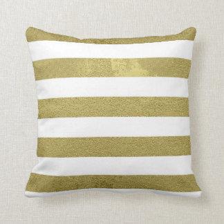 Gold Stripes Cushion