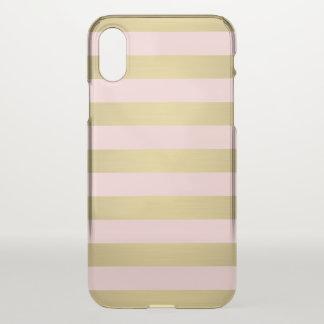 Gold Stripes Metallic Elegant iPhone X Case