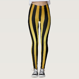 Gold Stripes on (Your Colour) Leggings