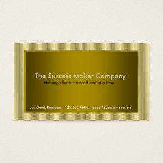 Gold Stripes Updated Vintage Business Card
