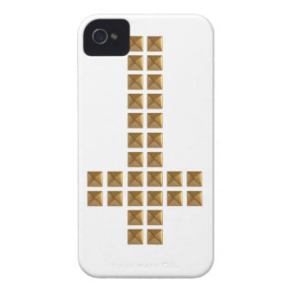 Gold Studded Inverted Cross iPhone 4 Case