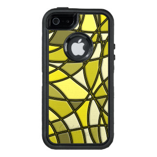 Gold Stylish Abstract Pattern OtterBox Defender iPhone Case