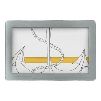 gold sub lieutenant, tony fernandes rectangular belt buckle