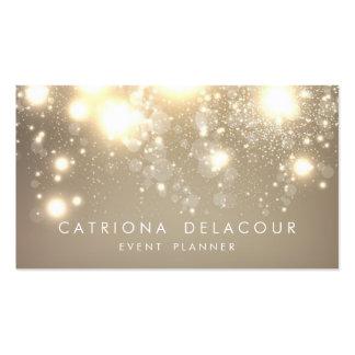 Gold Subtle Glitter Bokeh Business Card