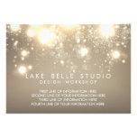 Gold Subtle Glitter Bokeh Information Card