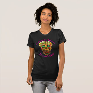 Gold Sugar Skull T-Shirt