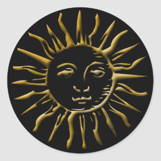 Gold Sun #2 - Sticker