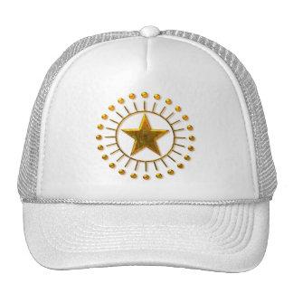 GOLD SUN STAR MESH HATS