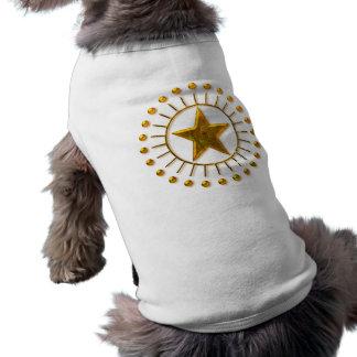 GOLD SUN STAR SLEEVELESS DOG SHIRT
