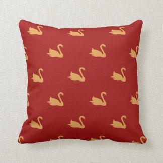 Gold Swans Cushion