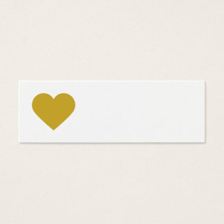 Gold Sweet Heart & Chevron Gift Tags