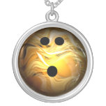 Gold Swirl Bowling Ball Custom Necklace
