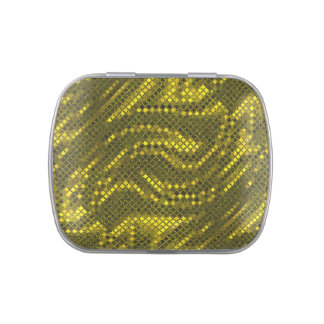 Gold Swirl Sequin Effect Jelly Belly Candy Tins
