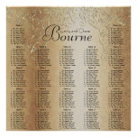 Gold Swirl Wedding Seating Chart Poster