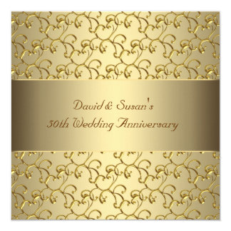 golden anniversary invitations