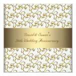 Gold Swirls Gold 50th Wedding Anniversary Party Personalised Invites