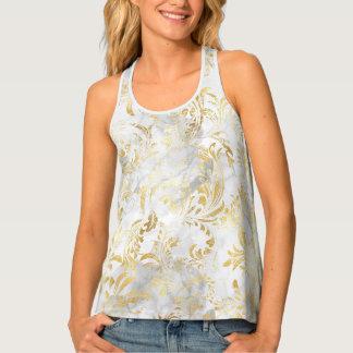 Gold swirls tank top