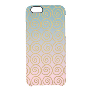 Gold Swirls w/ Teal & Pink iPhone 6/6s Phone Case