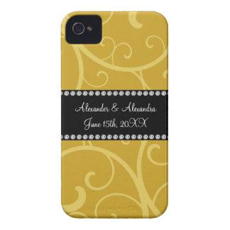 gold swirls wedding favors iPhone 4 Case-Mate case