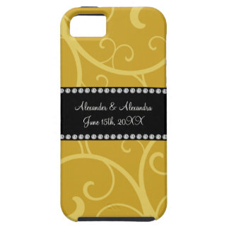 gold swirls wedding favors iPhone 5 covers
