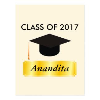 Gold Tag Graduation Postcard