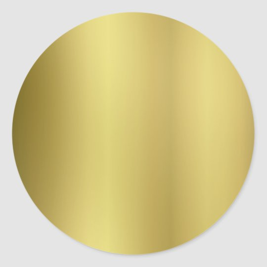 Gold Template Back Customise Round Sticker