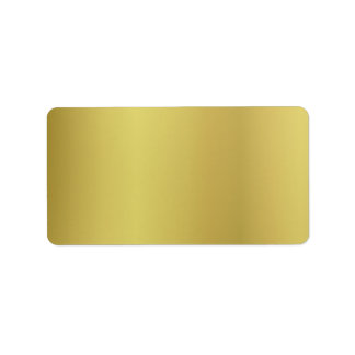 Gold Template Back Customize Address Label
