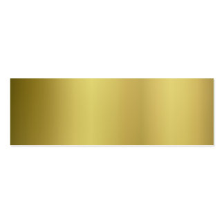 Gold Template Back Customize Pack Of Skinny Business Cards