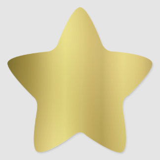 Gold Template Back Customize Star Sticker