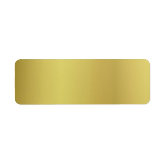 Gold Template Customise Return Address Label