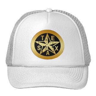 GOLD TEXAS STAR TRUCKER HATS