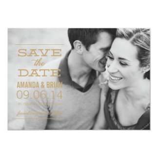 GOLD TEXT Photo Save the Date Announcement