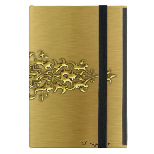 GOLD TEXTURE DESIGN COVER FOR iPad MINI