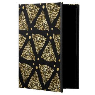 Gold Texture Triangles Modern Pattern
