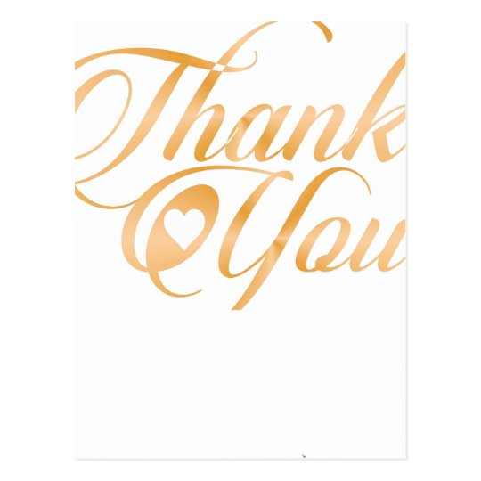 Gold Thank you Elegant typography script Postcard