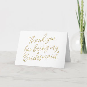 Bridesmaid Thank You Cards Zazzle Uk