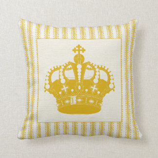 Gold Ticking with Crown Cushion