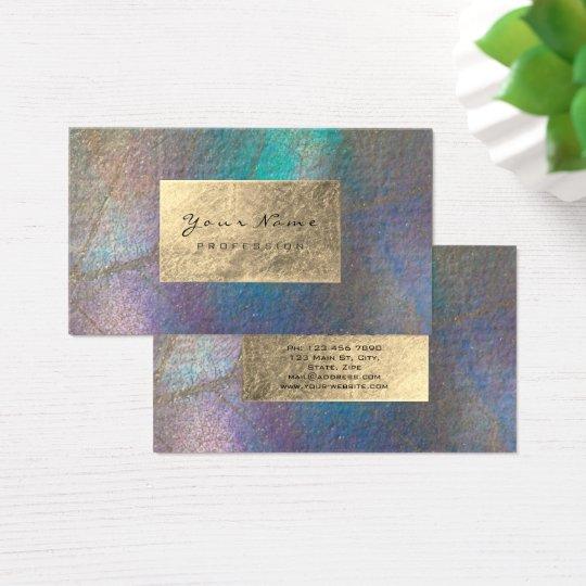 Gold Tiffany Ocean Tropic Foil Botanical Delicate Business