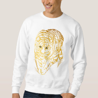 Gold Tiger In The Grass Sweatshirt