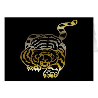 Gold Tiger - Notecard