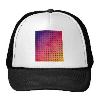 Gold To Purple Gradient Grid Hat