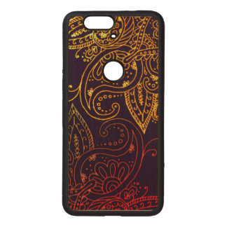 Gold to Red Mehndi on Purple Wood Nexus 6P Case
