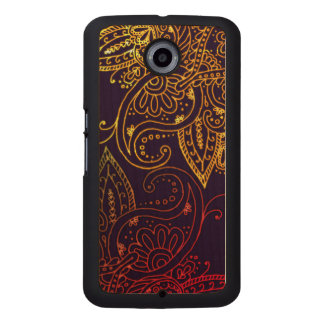 Gold to Red Mehndi on Purple Wood Phone Case